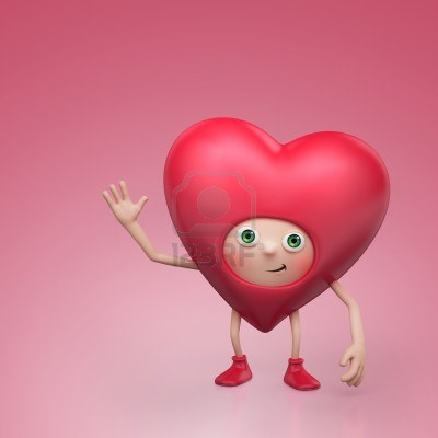 16974884 Funny Valentine Heart Cartoon Character