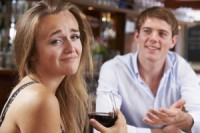 Couple On Unsuccessful First Date In Restaurant