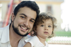 Dad with daughter
